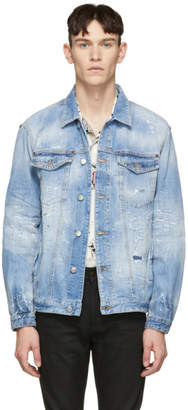 DSQUARED2 Blue Denim Light Piranha Over Jacket