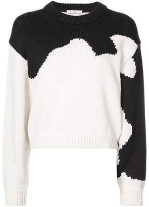 Tibi Intarsia colour block sweater