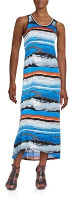 Printed Jersey Midi Dress $79 thestylecure.com