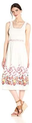 Max Studio Women's Smocked Jacquard Maxi Dress