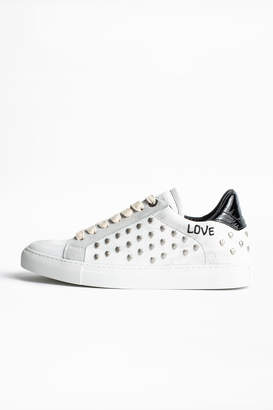 Zadig & Voltaire ZV1747 White Heart Sneakers