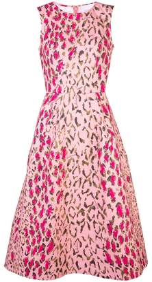 Carolina Herrera animal print midi dress
