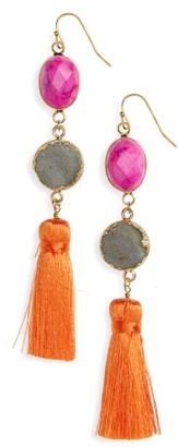 Women's Panacea Drusy Tassel Earrings $26 thestylecure.com