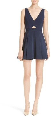 Women's Alice + Olivia Nina Cutout Fit & Flare Dress $385 thestylecure.com