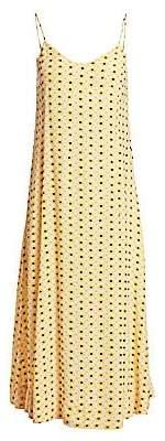 Ganni Women's Printed Crepe Dress