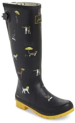 Joules Print Rain Boot