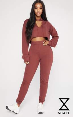 PrettyLittleThing Shape Chocolate Elastic Bottom Joggers