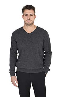 Cashmeren Men's Wool Cashmere Classic Knit Soft Long Sleeve V Neck Pullover Sweater