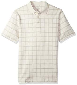 Van Heusen Men's Big and Tall Printed Windowpane Short Sleeve Polo