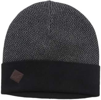 Cole Haan Men's Fine Gauge Pattern Jacquard Knit Cuff Hat