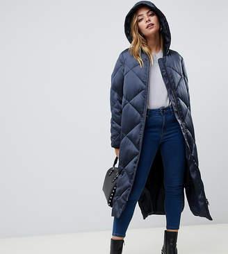 Asos DESIGN Petite longline puffer jacket