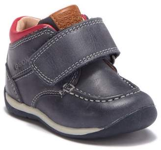 Geox Beach Boy Moc Toe Leather Sneaker (Baby & Toddler)