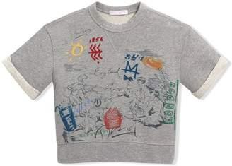 Burberry Short-sleeve Adventure Motif Cotton Jersey Sweatshirt