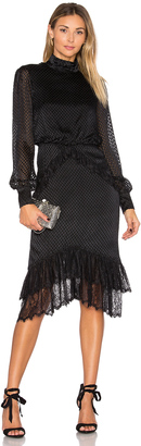SALONI Isa Silk Short Dress $595 thestylecure.com
