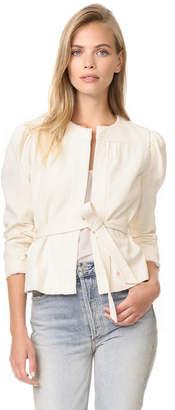 La Vie Rebecca Taylor Double Weave Cotton Jacket $295 thestylecure.com