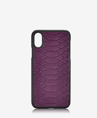 GiGi New York iPhone X Hard-Shell Case, Acai Embossed Python