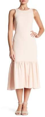 Rebecca Taylor Sleeveless Ruffle Hem Crepe Dress