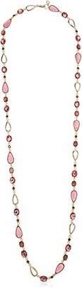 Anne Klein Women's Gold Tone Stone Strand Necklace