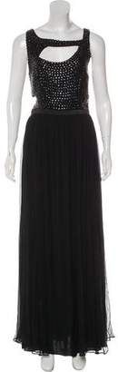 Rachel Gilbert Embellished Evening Dress