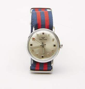 Blade + Blue Vintage Waltham Military Watch with Striped Band