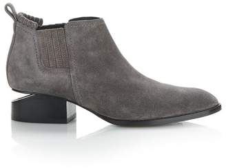 Alexander Wang KORI SUEDE OXFORD WITH RHODIUM BOOTS