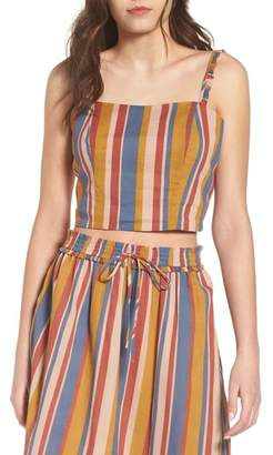 June & Hudson Stripe Crop Top