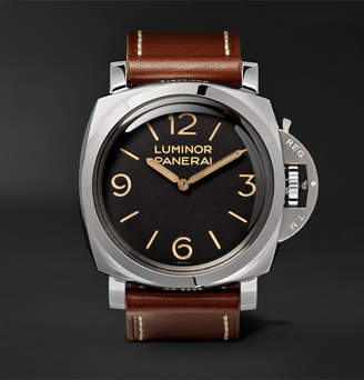 Panerai Officine Luminor 1950 3 Days Acciaio 47mm Stainless Steel And Leather Watch