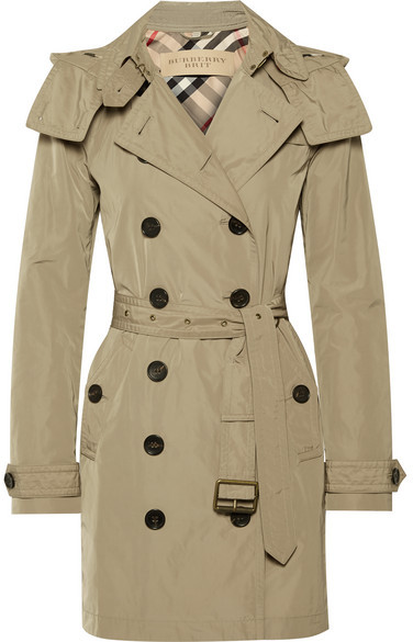 Burberry - Balmoral Packaway Hooded Shell Trench Coat - Neutral
