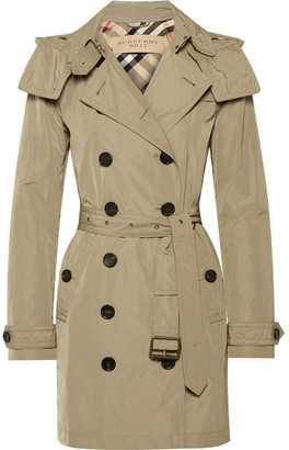 Burberry - Balmoral Packaway Hooded Shell Trench Coat - Neutral $795 thestylecure.com