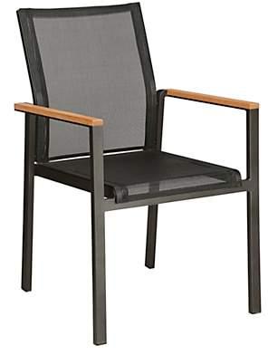 Barlow Tyrie Aura Outdoor Armchair, FSC-Certified (Teak), Graphite/Charcoal