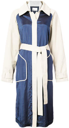 Alexander Wang two-tone belted coat