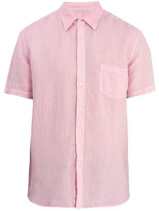 120% Lino - Short Sleeved Linen Shirt - Mens - Light Pink