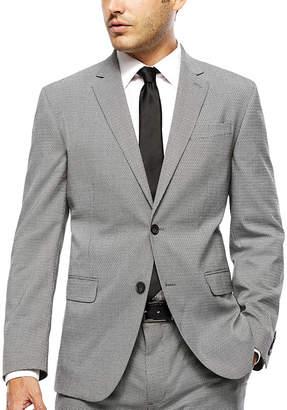 Jf J.Ferrar JF Black White Chevron Slim-Fit Jacket