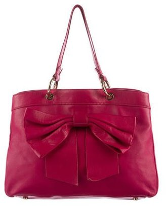 Red Valentino Bow-Accented Leather Tote $175 thestylecure.com