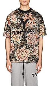 Y-3 Men's Embroidered Floral Cotton T-Shirt