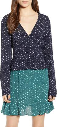 The Fifth Label Amore Heart Print Peplum Top