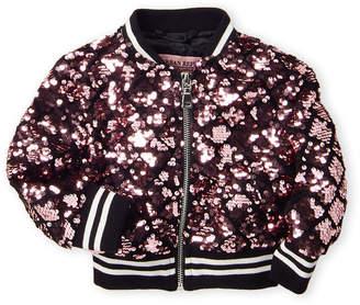 Urban Republic Infant Girls) Sequin Bomber Jacket