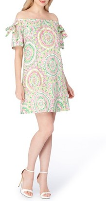 Women's Tahari Off The Shoulder Shift Dress $118 thestylecure.com
