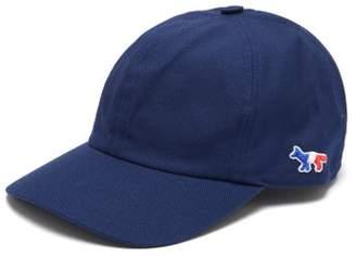 MAISON KITSUNÉ Fox Applique Cotton Blend Cap - Mens - Navy