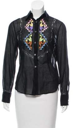 Ermanno Scervino Embroidered Button-Up Top