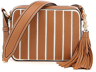 MICHAEL Michael Kors Brooklyn Tasseled Striped Large Cross-Body Bag $194.60 thestylecure.com