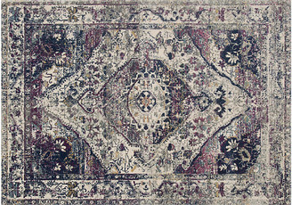 One Kings Lane Wilbon Rug - Ivory/Berry