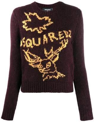 DSQUARED2 knit logo jumper