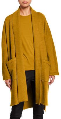 Eileen Fisher Plus Size Boiled Wool Long Kimono Jacket