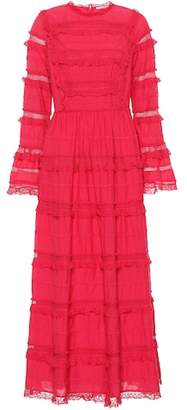 Ulla Johnson Cerise cotton-blend midi dress