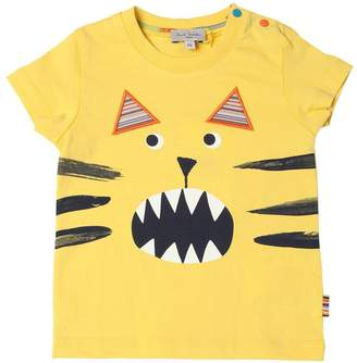 Paul Smith Cat Print Cotton Jersey T-Shirt