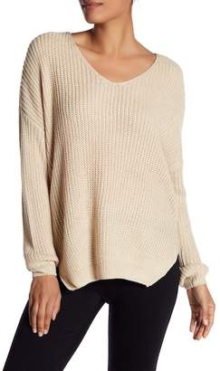 DREAMERS BY DEBUT Hi-Lo V-Neck Sweater