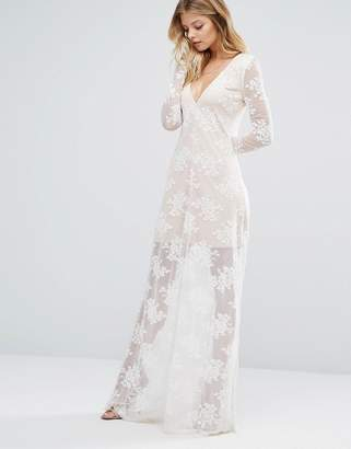 Majorelle Maxi Dress In Ivory