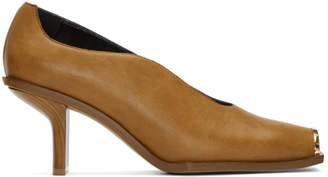 Stella McCartney Tan Square Toe Heels