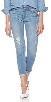 Parker Lily Women's Mid Rise Distressed Denim Pants Skinny Jeans (